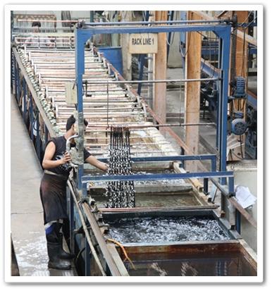 Zinc Rack Plating Services Malaysia | Zinc Rack Plating